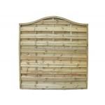 Decorative Verona Fence Panel 1.8m (h) x 1.8m (w) - Green Treated