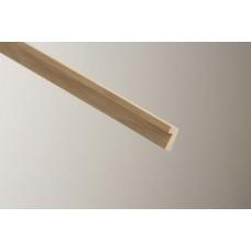 Cheshire Mouldings Oak Fire Check Hockey Stick 26mm x 23mm x 2.4m