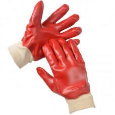 Pair of Red Waterproof Gloves