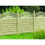 Bulk Decorative Florence Fence Panel 1.8m (w) x 1.2m (h) - Green Treated