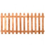 Pointed Picket Fence Panels - Green Treated