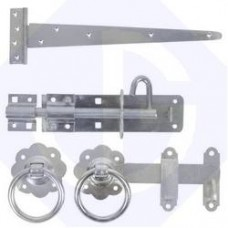 Ring Gate Latch Kit Pre-Packed BZP Bright Zinc Plated