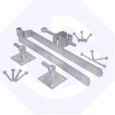 """600mm Adjustable Field Gate Hinge Set Hooks on Plates 24"""""""