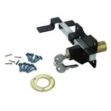 50mm Cays Lock (Black) For Gate - Double Locking Throw 50mm