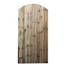 Green Treated Arched Top Closeboard Gate (Rowlinson) 1800mm x 900mm