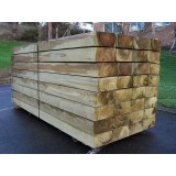 New Green Softwood Treated Railway Sleepers 200mm x 100mm x 2.4m