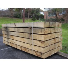 New Untreated Oak Railway Sleepers 250mm x 125mm x 2.4m