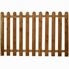 Rounded Picket Fence Panel - Green Treated