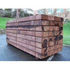 Bulk New Brown Softwood Treated Railway Sleepers 250mm x 125mm x 6.0m