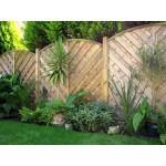Decorative Madrid Fence Panel 1.8m (w) x 1.2m (h) - Green Treated