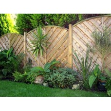Bulk Decorative Madrid Fence Panel 1.8m (w) x 1.2m (h) - Green Treated