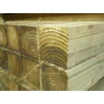 Softwood Treated Fence Post 100mm x 100mm - Green / Brown Treated