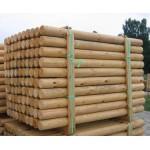 Green Treated Machine Round Timber Poles